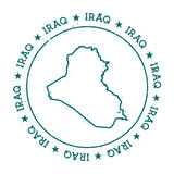 Der Irak-Vektorkarte Stockbilder
