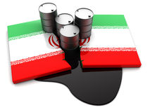 Der Iran-Ölkonflikt Stockfotografie