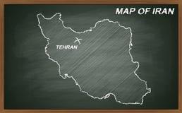 Der Iran auf Tafel Lizenzfreie Stockfotografie