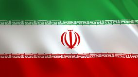 Der Iran fahnenschwenkend