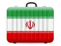 Der Iran-Flaggenreisekoffer stock abbildung
