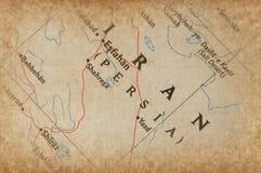 Der Iran-Karte Stockbilder