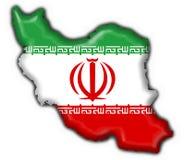Der Iran-Tastenmarkierungsfahnen-Kartenform lizenzfreie abbildung