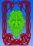 Der irische mythische grüne Mann stockfoto