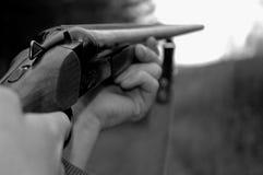 Der Jäger. Stockfotografie