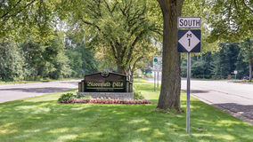Der jährliche Woodward-Traum-Kreuzfahrtweg läuft durch Bloomfield H Stockbild