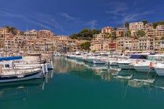 Der Jachthafen bei Puerto de Soller, Mallorca Stockbild