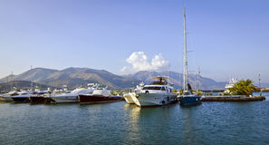 Der Jachthafen - Gaeta, Italien Lizenzfreies Stockfoto