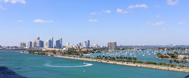 Der Jachthafen in Miami Florida Lizenzfreies Stockfoto