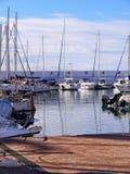 Der Jachthafen mit seinen Booten in Marbella in Spanien Stockfoto