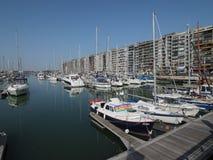 Der Jachthafen von Blankenberge lizenzfreie stockbilder