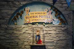 Der 150. Jahrestag des Buches der Kinder Beatrix Potter Autor Lizenzfreie Stockbilder