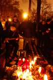 Der 34. Jahrestag von John Lennons Tod bei Strawberry Fields 14 Lizenzfreie Stockfotografie