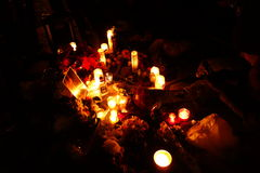 Der 34. Jahrestag von John Lennons Tod bei Strawberry Fields 37 Stockbild