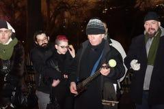Der 34. Jahrestag von John Lennons Tod bei Strawberry Fields 51 Stockbild