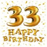 33 der Jahrestagseinladungs-Jahre Karte - Feierschablonendesign, moderne Gestaltungselemente des 33. Jahrestages, dunkelblauer Hi vektor abbildung