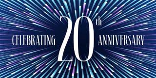 20 der Jahrestagsjahre Ikone, Fahne lizenzfreie abbildung
