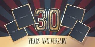 30 der Jahrestagsvektor-Jahre Ikone, Logo Lizenzfreie Stockfotografie
