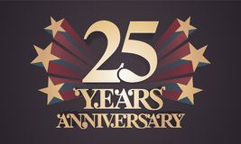 25 der Jahrestagsvektor-Jahre Ikone, Logo Stock Abbildung