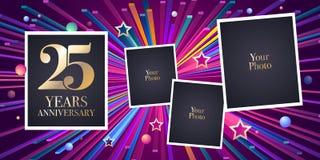 25 der Jahrestagsvektor-Jahre Ikone, Logo Stockfotos