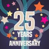 25 der Jahrestagsvektor-Jahre Illustration, Fahne, Flieger vektor abbildung