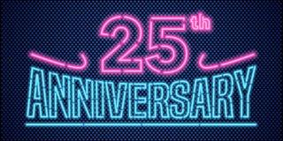 25 der Jahrestagsvektor-Jahre Illustration, Fahne, Flieger, Logo Stockbild