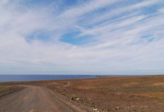 Der Jandia-Naturpark auf Fuerteventura in Spanien Stockfotografie