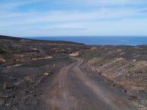 Der Jandia-Naturpark auf Fuerteventura in Spanien Lizenzfreies Stockbild