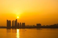 Der Jangtse-Sonnenuntergang Lizenzfreie Stockbilder