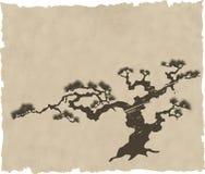 Der japanische Landschaftsschattenbildvektor Lizenzfreies Stockfoto