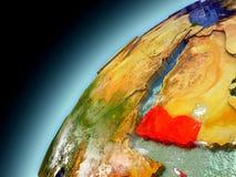 Der Jemen von der Bahn von vorbildlichem Earth Lizenzfreies Stockbild