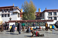 Der Jokhang Tempel Stockfotos