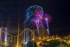 der Juli-Feuerwerke Stockbilder