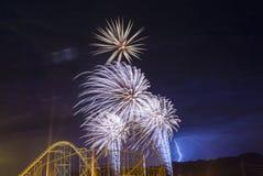 der Juli-Feuerwerke Stockfotografie
