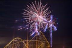 der Juli-Feuerwerke Stockfoto