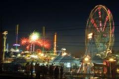 4. der Juli-Unabhängigkeitstagfeuerwerksshow Stockfotografie
