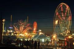 4. der Juli-Unabhängigkeitstagfeuerwerksshow Stockbilder