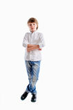 Der Junge als Geschäftsmann stockbild
