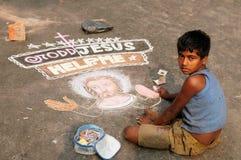 Der junge Christ in Indien Stockfoto
