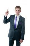 Der junge Geschäftsmann in einer Klage Lizenzfreies Stockfoto
