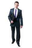 Der junge Geschäftsmann in einer Klage Stockbild