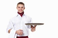 Der junge Kellner Stockbilder