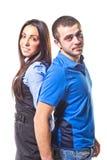 Der junge Mann und die Frau stockfoto