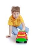Der Junge mit der Maschine Stockfotos