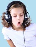 Der junge Sänger Stockfotografie