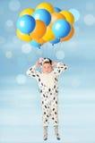 Der Junge und die Ballone Stockfotografie