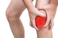 Der Junge verletzt am Knie Lizenzfreie Stockfotografie