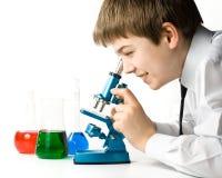 Der junge Wissenschaftler Stockfotos