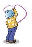 Der Junge zeichnet Inneres vektor abbildung