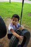 Der Jungen@ Spielplatz Lizenzfreies Stockfoto